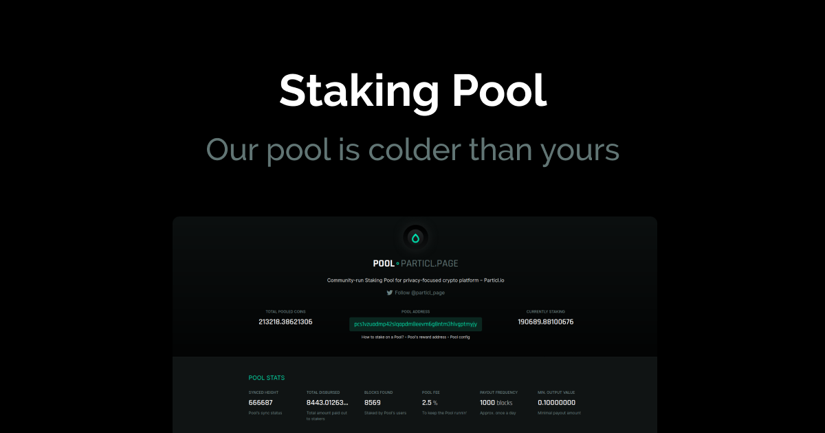 image from Cold Staking Pool